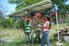 énergie solaire pour pomper l'eau du lac