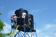 2 tanks of 5,000 litres for irrigation