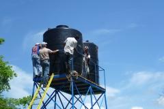 2 réservoirs de 5.000 litres pour l'irrigation
