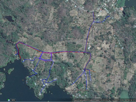 4.5 km of pipeline for the domestic network